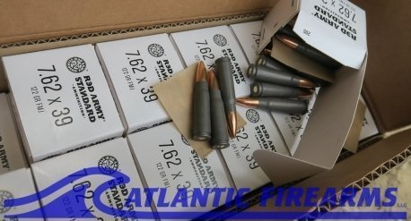 AK 47 Ammo 762x39 Red Army Standard 1000 Rnds 122 Gr