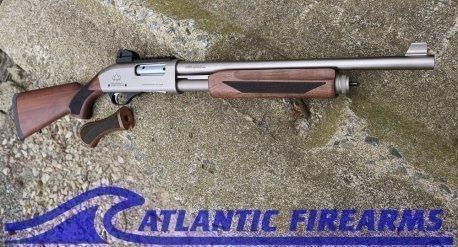 Black Aces Pro X Tactical Pump Shotgun Silver Walnut- BATPSXSW