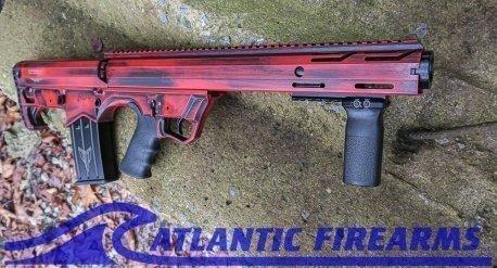 Black Aces Tactical Bullpup Pump Shotgun- Red- Left Hand- BATBPPDRLH