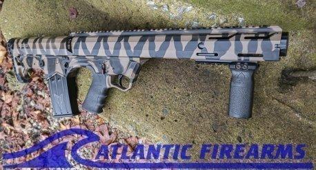 Black Aces Tactical Bullpup Pump Shotgun- Tiger Stripe- Left Hand- BATBPPTGLH