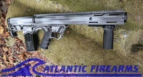 Black Aces Tactical Bullpup Pump Shotgun- White- Left Hand- BATBPPDWLH