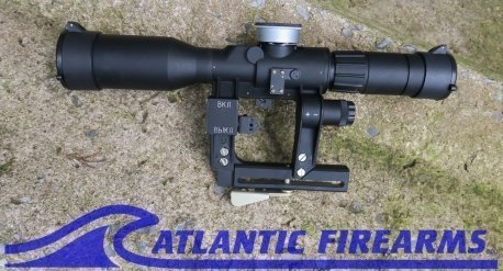 POSP 6x42 D PRO Rifle Scope w/ Independent Focus, Adjustable Illuminated Reticle and US Mil-Dot Rangefinder, AK Version