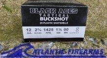 Black Aces Tactical 12ga Buckshot- Law Enforcement Grade 250 Round Case