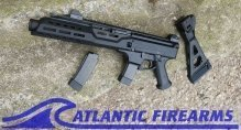 """CZ Scorpion EVO 3 S1 9mm 7.7"""" Threaded with flash can"""