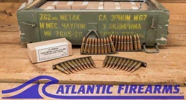 7.62x39mm 124 gr FMJ Yugo M67 Ammo Case 1120rds