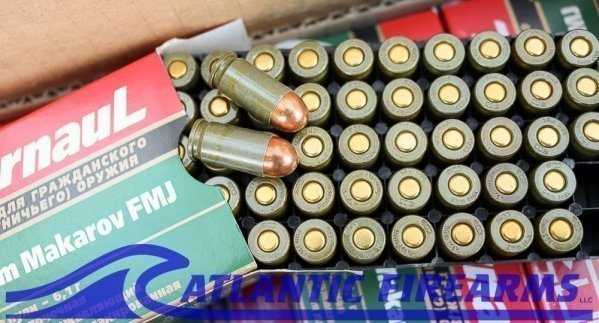 9MM Makarov 94gr FMJ Ammunition 1000 Round Case