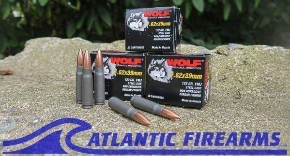 AK 47 Ammo 7.62x39 Wolf Performance Ammo 1000 Rnds 122 Gr FMJ