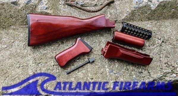 AK-47 Stock Set Red Laminate