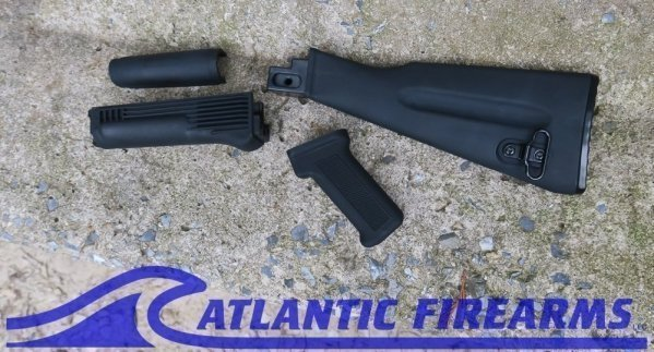 Atlantic Firearms Black AK47 Stock set