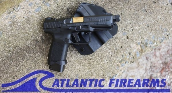 Canik TP9 Elite 9MM Combat Pistol- Black/Gold-HG4950-N