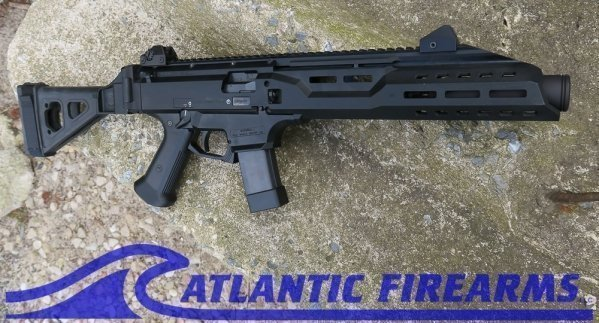 "CZ Scorpion EVO 3 S1 9mm 7.7"" Threaded with flash can"