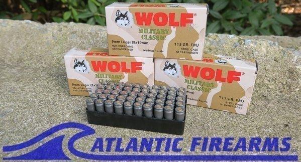 Wolf Ammunition 9mm 500 Round Case