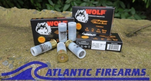 """Wolf Rifled Shotgun Slugs, 12 Gauge, 2-3/4"""", 1 Ounce-100 Round Case"""